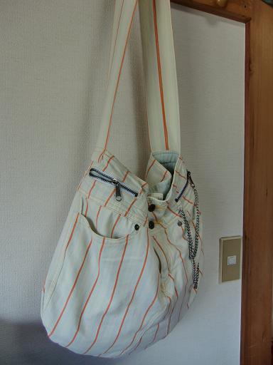 大きなバッグ(パンツのリメイク)