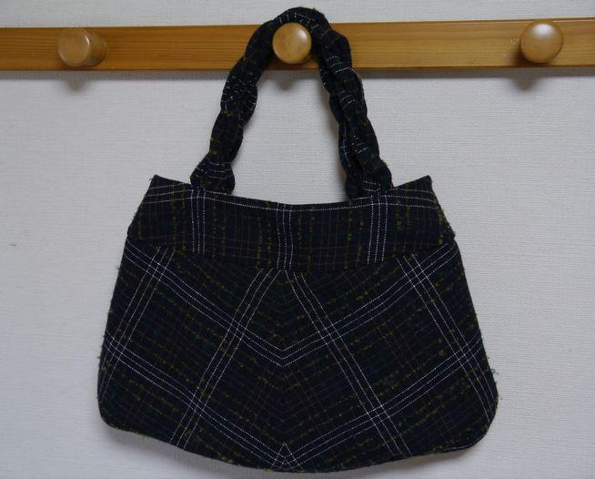スカートのリメイクバッグ