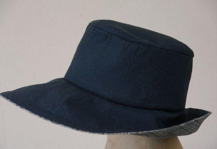 母の帽子(父の着物から)
